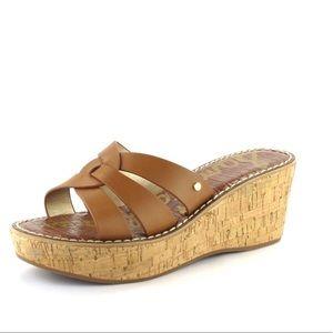 Sam Edelman Raynere Slip on Wedge Sandals in Brown
